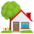 House With Garden on EmojiOne 4.0