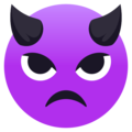Angry Face With Horns on EmojiOne 4.0