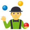 Person Juggling on EmojiOne 4.0