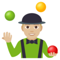 Person Juggling: Medium-Light Skin Tone on EmojiOne 4.0