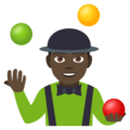 Person Juggling: Dark Skin Tone on EmojiOne 4.0