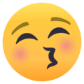 Kissing Face With Closed Eyes on EmojiOne 4.0