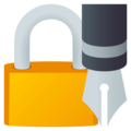Locked With Pen on EmojiOne 4.0