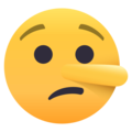 Lying Face on EmojiOne 4.0