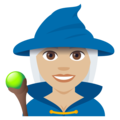 Mage: Medium-Light Skin Tone on EmojiOne 4.0