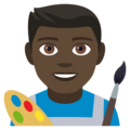 Man Artist: Dark Skin Tone on EmojiOne 4.0