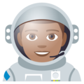 Man Astronaut: Medium Skin Tone on EmojiOne 4.0