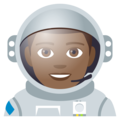 Man Astronaut: Medium-Dark Skin Tone on EmojiOne 4.0