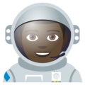 Man Astronaut: Dark Skin Tone on EmojiOne 4.0