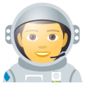 Man Astronaut on EmojiOne 4.0