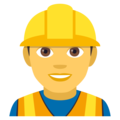 Man Construction Worker on EmojiOne 4.0