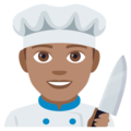 Man Cook: Medium Skin Tone on EmojiOne 4.0