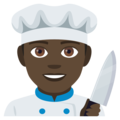 Man Cook: Dark Skin Tone on EmojiOne 4.0