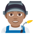 Man Factory Worker: Medium Skin Tone on EmojiOne 4.0