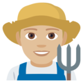 Man Farmer: Medium-Light Skin Tone on EmojiOne 4.0