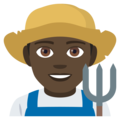 Man Farmer: Dark Skin Tone on EmojiOne 4.0