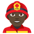 Man Firefighter: Dark Skin Tone on EmojiOne 4.0