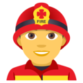 Man Firefighter on EmojiOne 4.0