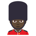 Man Guard: Dark Skin Tone on EmojiOne 4.0