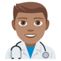 Man Health Worker: Medium Skin Tone on EmojiOne 4.0