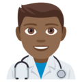 Man Health Worker: Medium-Dark Skin Tone on EmojiOne 4.0