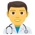 Man Health Worker on EmojiOne 4.0