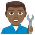 Man Mechanic: Medium-Dark Skin Tone on EmojiOne 4.0