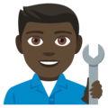 Man Mechanic: Dark Skin Tone on EmojiOne 4.0