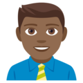 Man Office Worker: Medium-Dark Skin Tone on EmojiOne 4.0