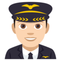 Man Pilot: Light Skin Tone on EmojiOne 4.0