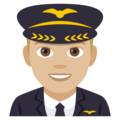 Man Pilot: Medium-Light Skin Tone on EmojiOne 4.0