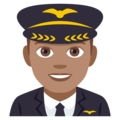 Man Pilot: Medium Skin Tone on EmojiOne 4.0