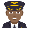 Man Pilot: Medium-Dark Skin Tone on EmojiOne 4.0