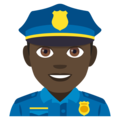 Man Police Officer: Dark Skin Tone on EmojiOne 4.0