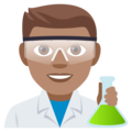 Man Scientist: Medium Skin Tone on EmojiOne 4.0