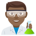 Man Scientist: Medium-Dark Skin Tone on EmojiOne 4.0