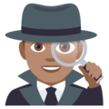 Man Detective: Medium Skin Tone on EmojiOne 4.0