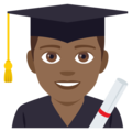 Man Student: Medium-Dark Skin Tone on EmojiOne 4.0