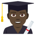 Man Student: Dark Skin Tone on EmojiOne 4.0