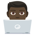 Man Technologist: Dark Skin Tone on EmojiOne 4.0