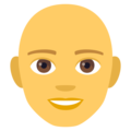 Man, Bald on EmojiOne 4.0