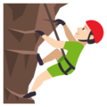 Man Climbing: Light Skin Tone on EmojiOne 4.0