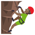 Man Climbing: Medium-Dark Skin Tone on EmojiOne 4.0