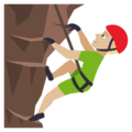 Man Climbing: Medium-Light Skin Tone on EmojiOne 4.0