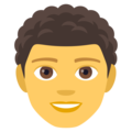 Man, Curly Haired on EmojiOne 4.0