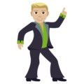 Man Dancing: Medium-Light Skin Tone on EmojiOne 4.0