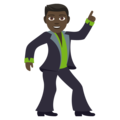 Man Dancing: Dark Skin Tone on EmojiOne 4.0