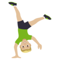 Man Cartwheeling: Medium-Light Skin Tone on EmojiOne 4.0