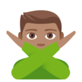 Man Gesturing No: Medium Skin Tone on EmojiOne 4.0