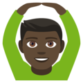 Man Gesturing OK: Dark Skin Tone on EmojiOne 4.0